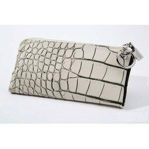 一点一点違った腑柄が魅力のソフトクロコダイル長財布