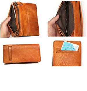馬革の良さを生かしたアンティーク仕上げ長財布