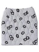 Monochromatic Floral Quilt Skirt