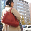 tanning leather tote bag made by japanese craftman