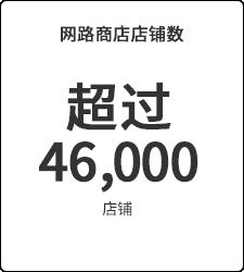 超过46,000店铺