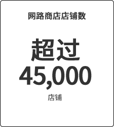 超过45,000店铺