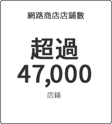 網路商店店鋪數 超過47,000店鋪