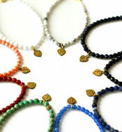 天然石ブレスレットinitial small ball bracelet 9color