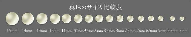 真珠のサイズ比較表