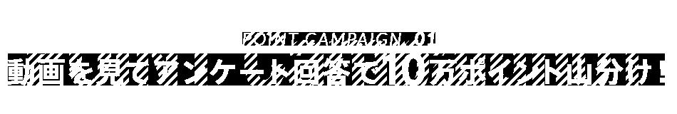 POINT CAMPAIGN.01 動画を見てアンケート回答で10万ポイント山分け!