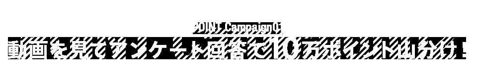 POINT Campaign02 動画を見てアンケート回答で10万ポイント山分け!