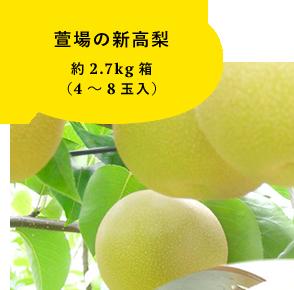萱場の新高梨 約2.7kg箱 (4〜8玉入)