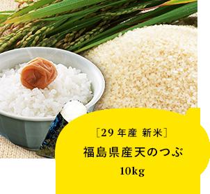 【29年産新米】 福島県産 天のつぶ10kg