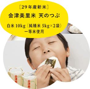 白米10kg 29年産新米 会津美里米 天のつぶ 純精米5kg×2袋 一等米使用