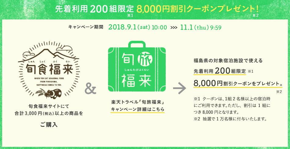 先着利用200組限定8,000円割引クーポンプレゼント!