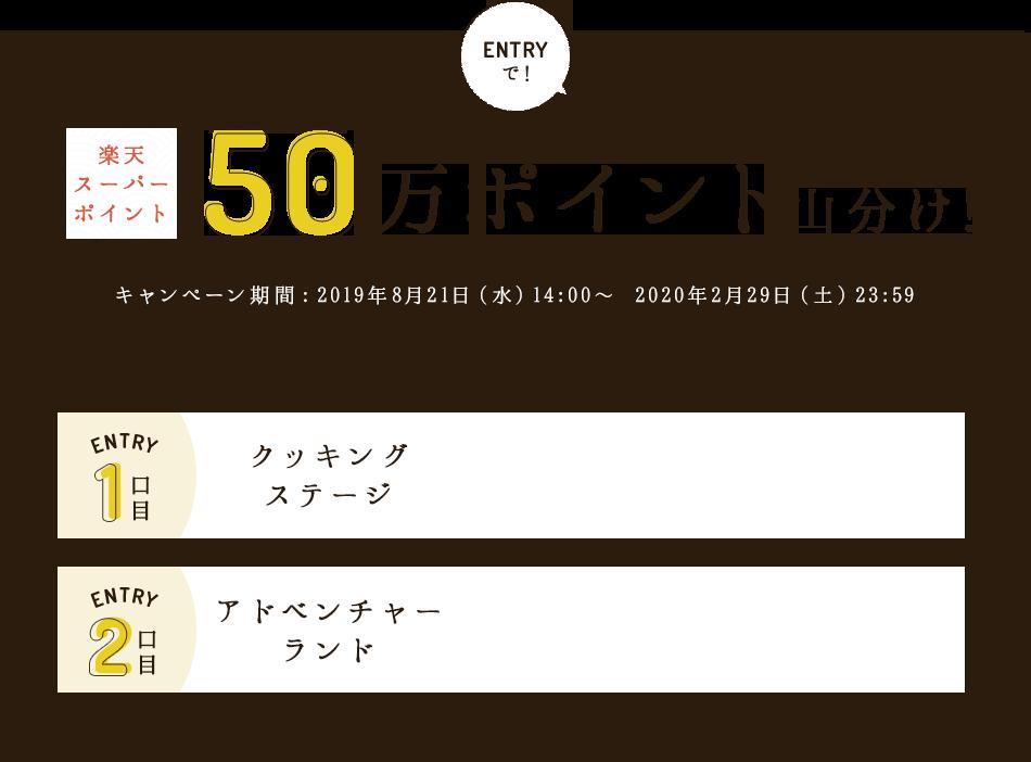楽天 スーパー ポイント 50万ポイント山分け!