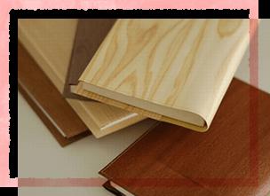 木のブックカバー