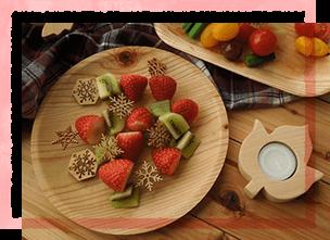 国産スギのKIZARA丸皿