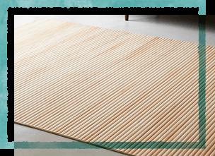 無垢ヒノキのウッドカーペット「ロールウッド」