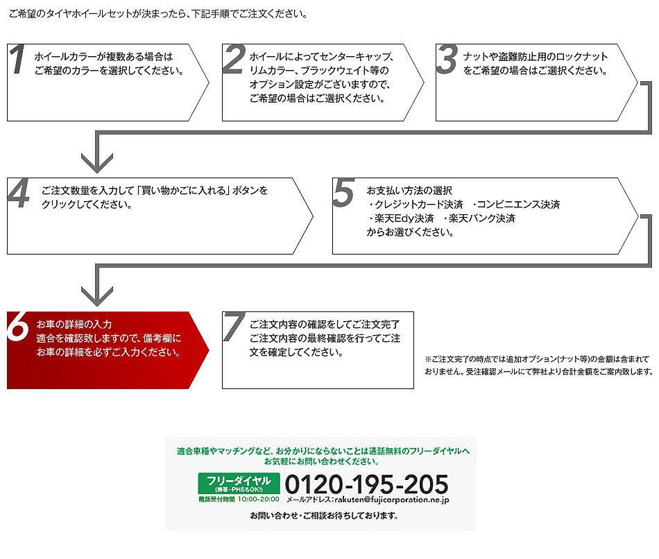ご希望のタイヤホイールセットが決まったら、下記手順でご注文でご注文ください。