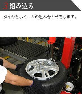 3組み込み タイヤとホイールの組み合わせをします。