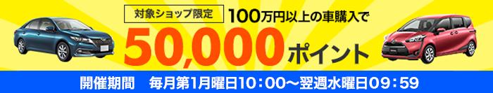 100万円以上の車両購入でポイント付与キャンペーン