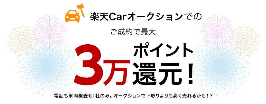 楽天Carオークションでのご成約で最大3万ポイント還元!