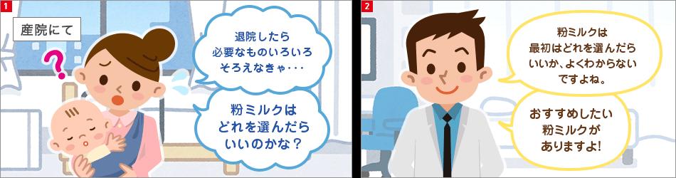 漫画コマ1、2