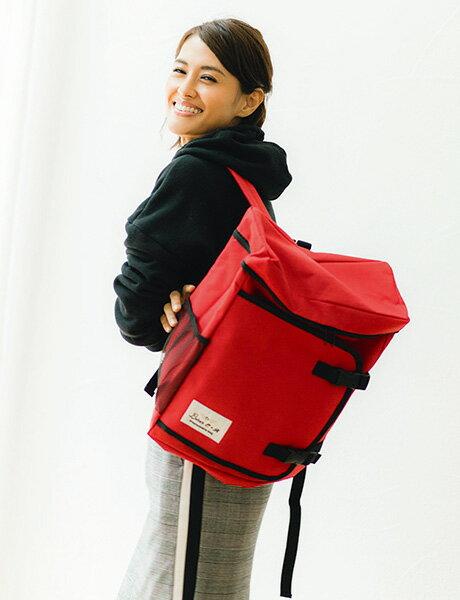 ママバッグや子どもの通学、防災用など、マルチに使える大容量リュック