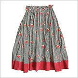 スイカ柄のスカート