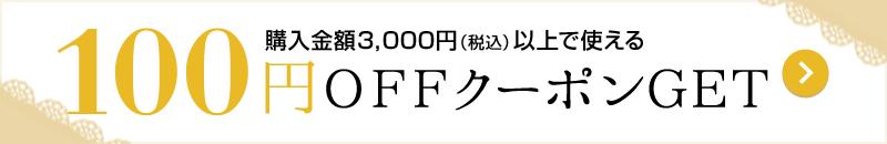 対象商品限定100円OFFクーポン