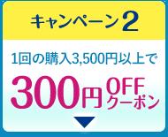 1回の購入3,500円以上で300円OFFクーポン