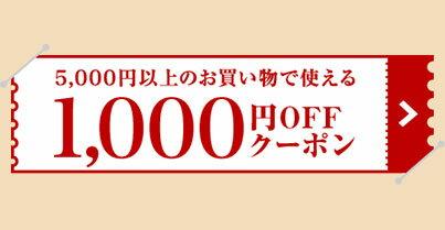 5,000円以上のお買い物で使える 1,000円OFFクーポン