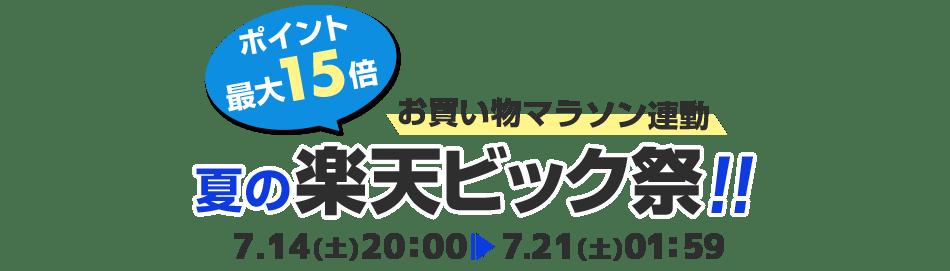夏の楽天ビック祭!