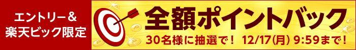 エントリー&楽天ビック限定 全額ポイントバック 30名様に抽選で!12/7(月)9:59まで!