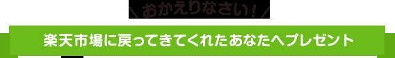 おかえりなさい!楽天市場に戻ってきてくれたあなたへ500円OFFクーポンプレゼント