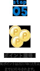 STEP05 - ポイント獲得! ※ポイントは2017年12月末までに付与されます。