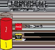 GRAPEFRUIT COKE - グレープフルーツ コーク コカ・コーラ / MM ピンクグレープフルーツ・ブレンド