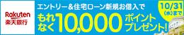 エントリー&住宅ローン新規お借入でもれなく10,000ポイントプレゼント