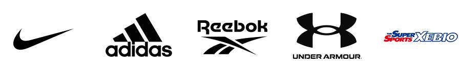 「nike」「adidas」「reebok」「UNDER ARMOUR」「THE SUPER SPORTS XEBIO」