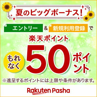 夏のビッグボーナスキャンペーン Rakuten Pasha