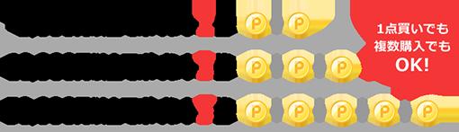 3,000円以上でポイント2倍 10,000円以上でポイント3倍 50,000円以上でポイント5倍