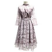 クチュールレースリボンワンピースドレス