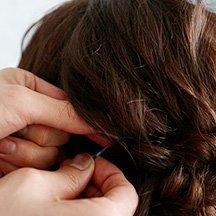 14:毛束を固定する