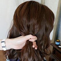 9:毛束を取る