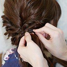 21:毛束を固定する