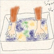 手洗いする