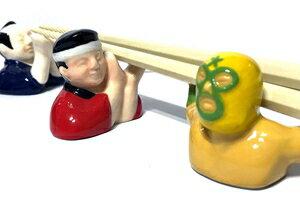 侍・お祭り男・マスクマンのユニークな箸置き