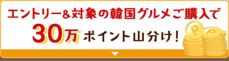 エントリー&対象の韓国グルメご購入で30万ポイント山分け!