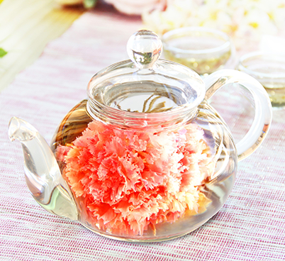花咲く工芸茶10種とガラスティーポットのギフト優雅セット