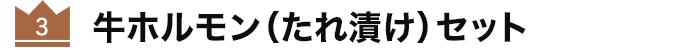 牛ホルモン(たれ漬け)セット