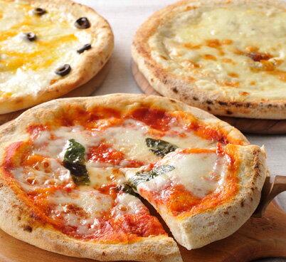チーズたっぷり釜焼きピザ