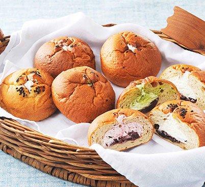 オーツ麦ふすまパンあんこクリーム(20個セット)