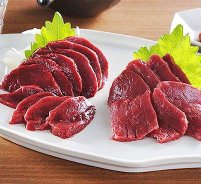 会津ブランド認定国産馬刺し 2種食べ比べ